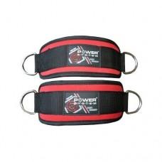 PowerSystem Манжета на лодыжку Ankle Strap PS-3410 Black-red