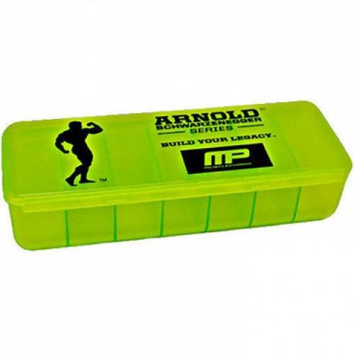 MusclePharm Таблетница Arnold Pill Box - black-green