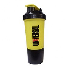 Universal Premium Shaker 500ml c контейнером - жёлтый