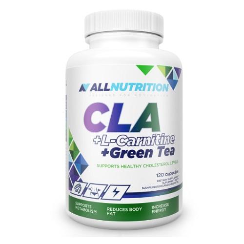 All Nutrition L-Carnitine + Green Tea + CLA, 120 caps