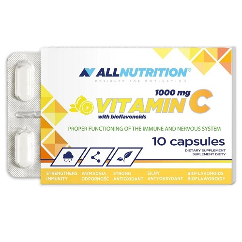 All Nutrition Vitamin C 1000 mg + Bioflaw - 10 caps
