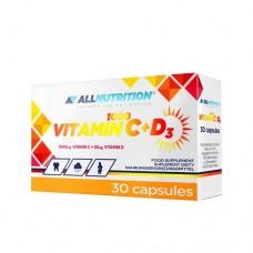 All Nutrition Vitamin C + D3 1000, 30 caps