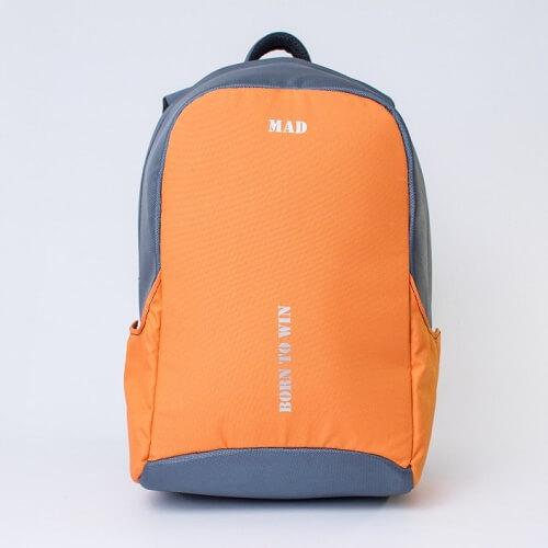 MAD Рюкзак Booster серо-оранжевый