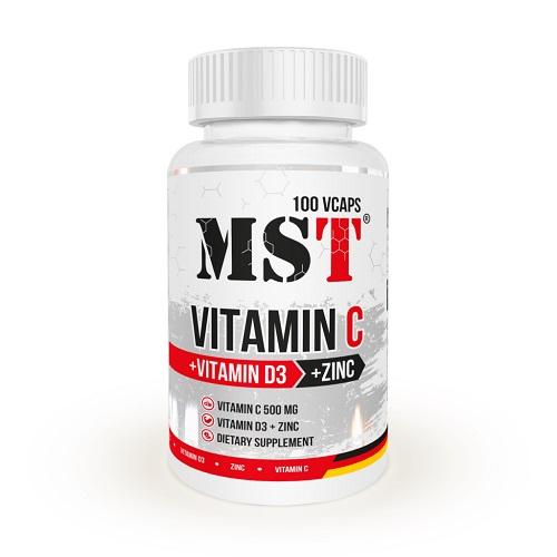 MST Vitamin C 500 +D3 + Zink, 100 капс.