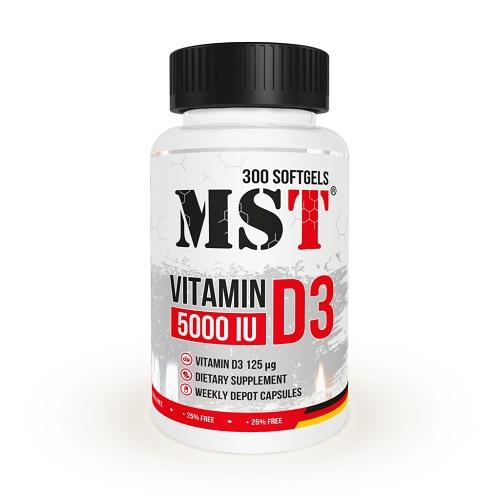 MST Vitamin D3 5000IU, 300 капс.