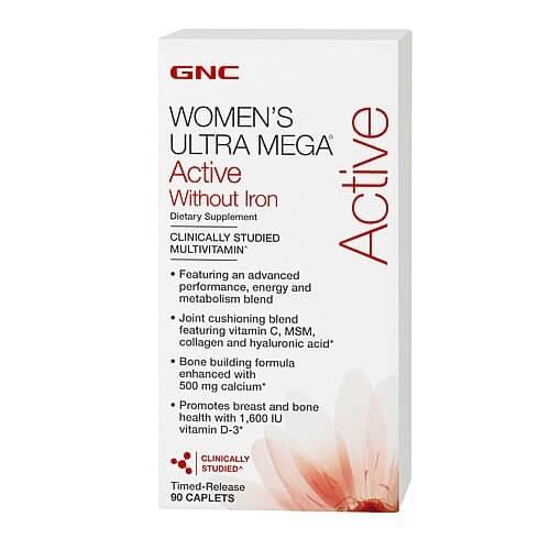 GNC WOMENS ULTRA ACTIVE NO IRON 90 caps
