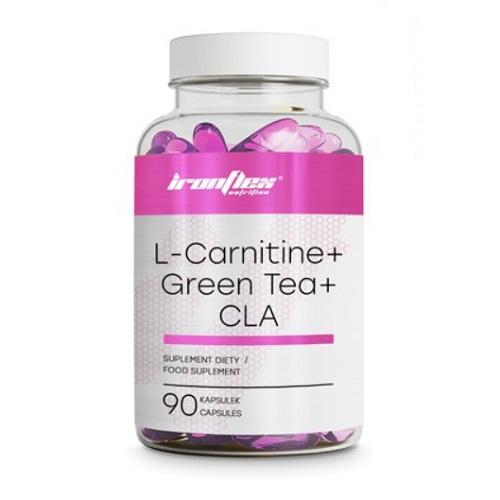 IronFlex L-Carnitine + Green Tea + CLA, 90 caps