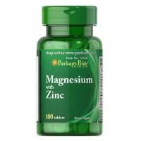Puritan's Pride Magnesium with Zinc, 100 tab