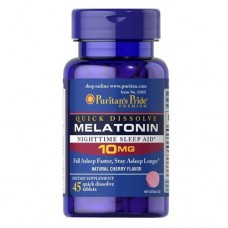 Puritan`s Pride Quick Dissolve Melatonin 10mg, 45 tab