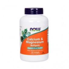 NOW Calcium&Magnesium+D, 120caps