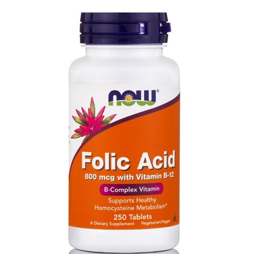 NOW Folic acid 800 & B12- 250tab