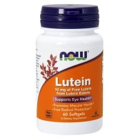 NOW Lutein 10 mg, 60 caps