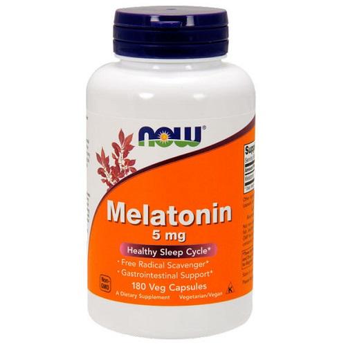 NOW Melatonin 5 mg, 180 caps
