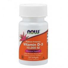 NOW Vitamin D3 10.000, 120caps