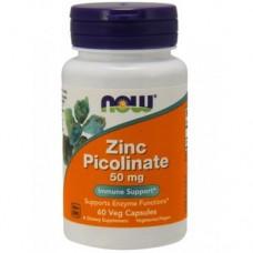 NOW Zinc Picolinate 50mg, 60 caps