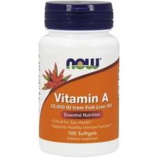NOW Vitamin A 25000, 100 caps