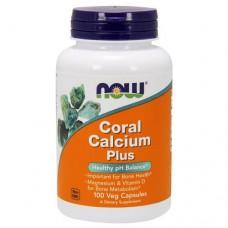NOW Coral Calcium Plus Mag, D - 100 caps