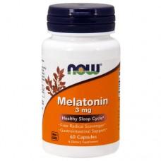 NOW Melatonin 3 mg, 60 caps
