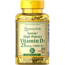 Puritan's Pride Vitamin D3 1000UI, 200 caps