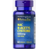 Puritan`s Pride N-acetile cystein (NAC) 600 mg, 60 caps