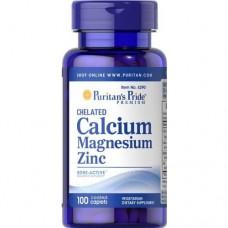 Puritan's Pride Chelated Calcium Magnesium Zinc 100 tab