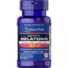 Puritan`s Pride Quick Dissolve Melatonin 10mg, 90 tab