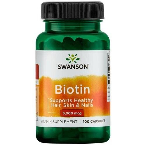 Swanson Biotin 5000mcg, 100 caps