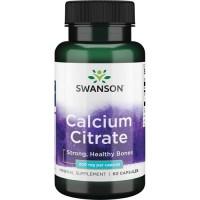 Swanson Calcium Citrate 200mg, 60 caps