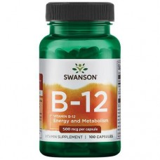 Swanson Vitamin B12 500 мкг, 100 капс.
