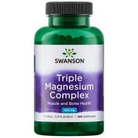 Swanson Triple Magnesium Complex 400mg, 30 капс.