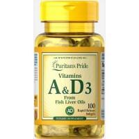 Puritan's Pride Vitamin A and D3 5000/400 IU, 100 caps
