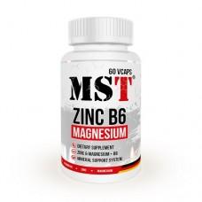 MST Zinc + Magnesium + B6, 60 капс.