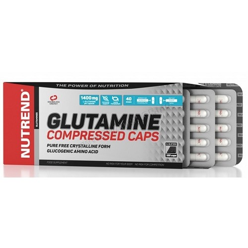 Nutrend Glutamine Compressed Caps, 120 капс