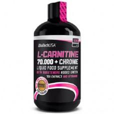 BiotechUSA L-carnitine 70.000 mg + Chrome Liquid 500 ml