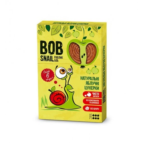BOB SNAIL Натуральные Яблочные Конфеты, 120г