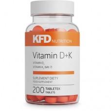 KFD Vitamin D3+K2, 200 tab