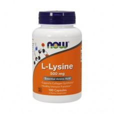 NOW Lysine 500 mg, 100 caps