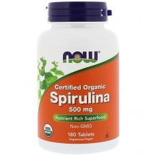 Now Spirulina 500 mg, 180 tab
