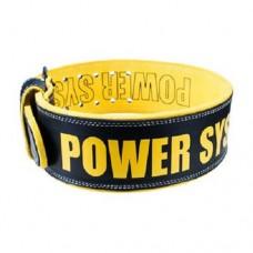 PowerSystem Пояс кожаный BEAST PS-3830 Black-Yellow