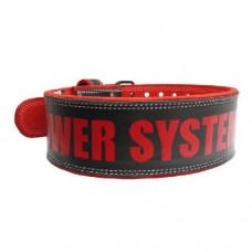 PowerSystem Пояс кожаный BEAST PS-3830 Black-Red