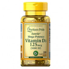 Puritan's Pride Vitamin D3 5000IU, 100 caps