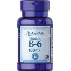 Puritan's Pride Vitamin B-6 100mg, 100 tab