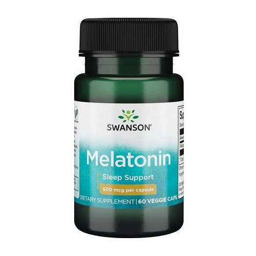 Swanson Melatonin 500mcg, 60 капс.