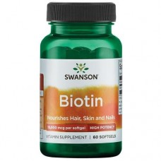 Swanson Biotin 10000mcg, 60 капс.